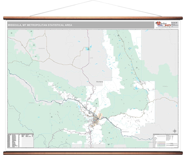 Amazon Com Missoula Mt Metro Area Wall Map 2018 Zip Codes