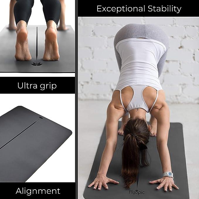 Esterilla Ecol/ógica para Yoga Ejercicios Fitness Esterilla de Yoga Premium de TPE Antideslizante con un Grosor de 8mm Estiramiento MEGLIO Esterilla de Yoga Gimnasia Pilates