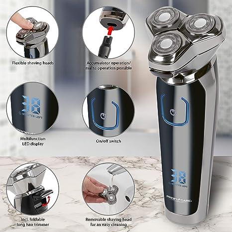 ProfiCare PC-HR 3023 - Afeitadora (Máquina de afeitar de rotación ...