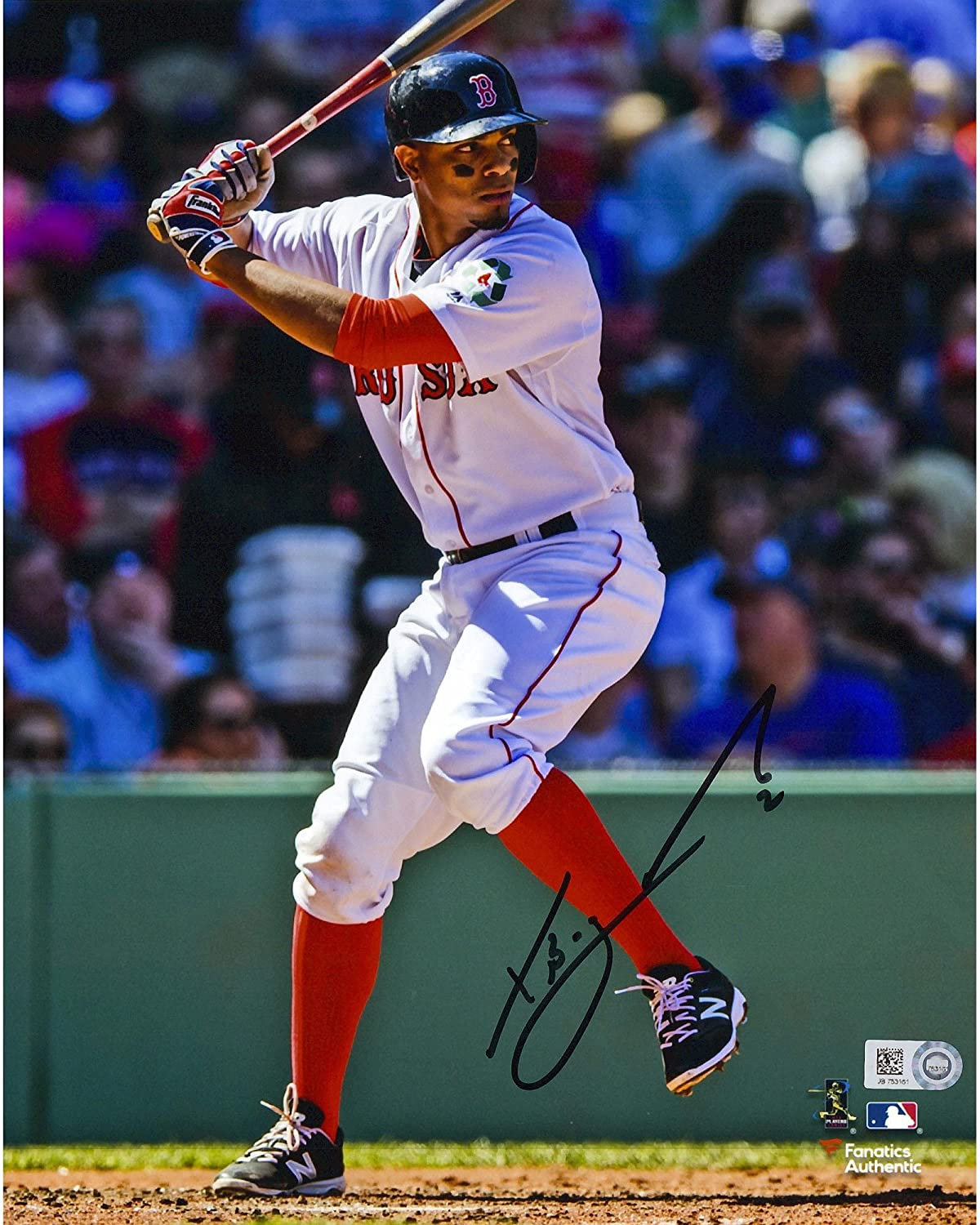 Xander Bogaerts Boston Red Sox Autographed 8' x 10' Vertical Hitting Photograph - Fanatics Authentic Certified
