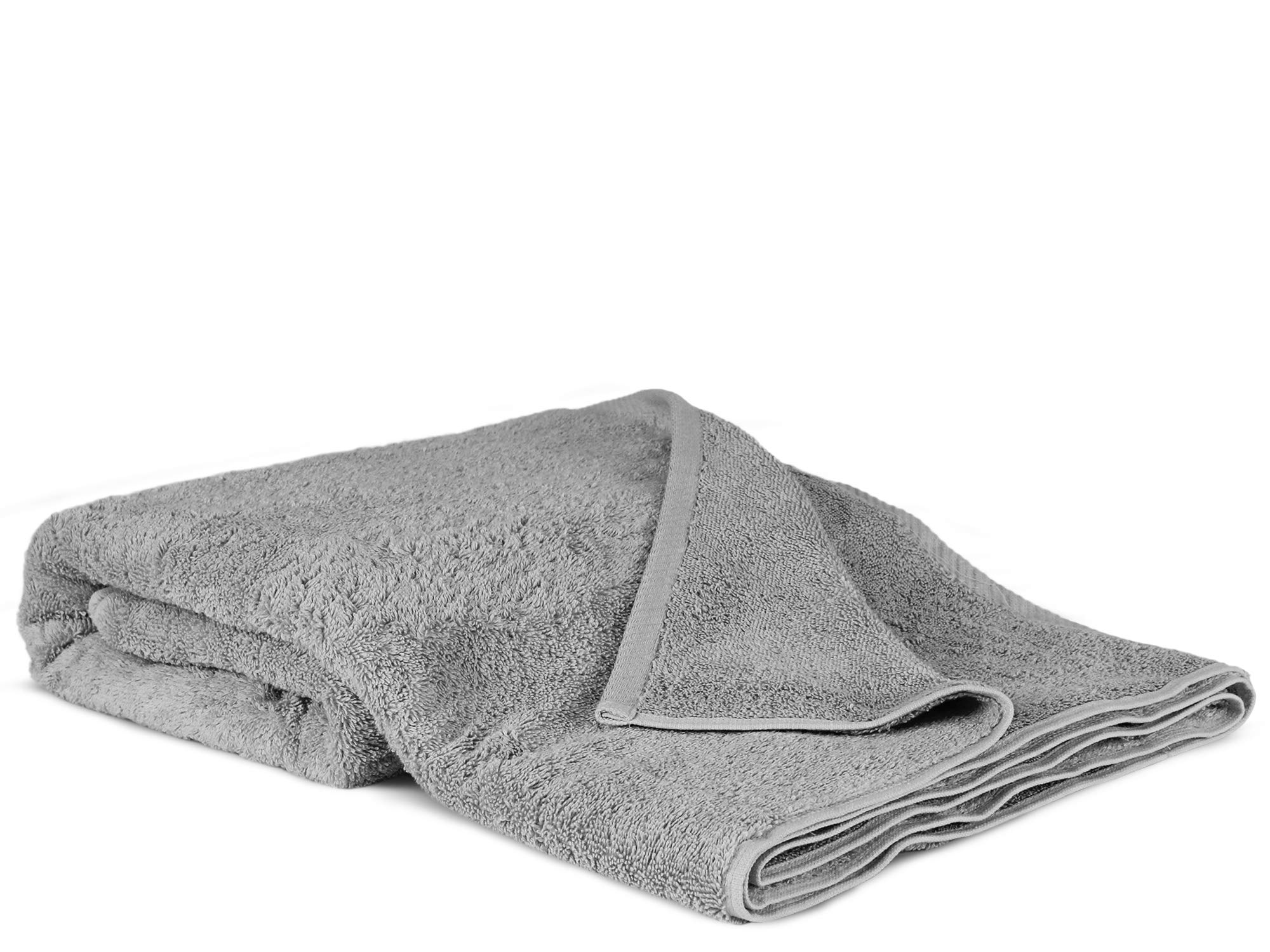 100% Luxury Turkish Cotton, Eco-Friendly, Soft and Super Absorbent Oversized 40'' x 80'' Bath Sheet (Gray, 1 Piece)