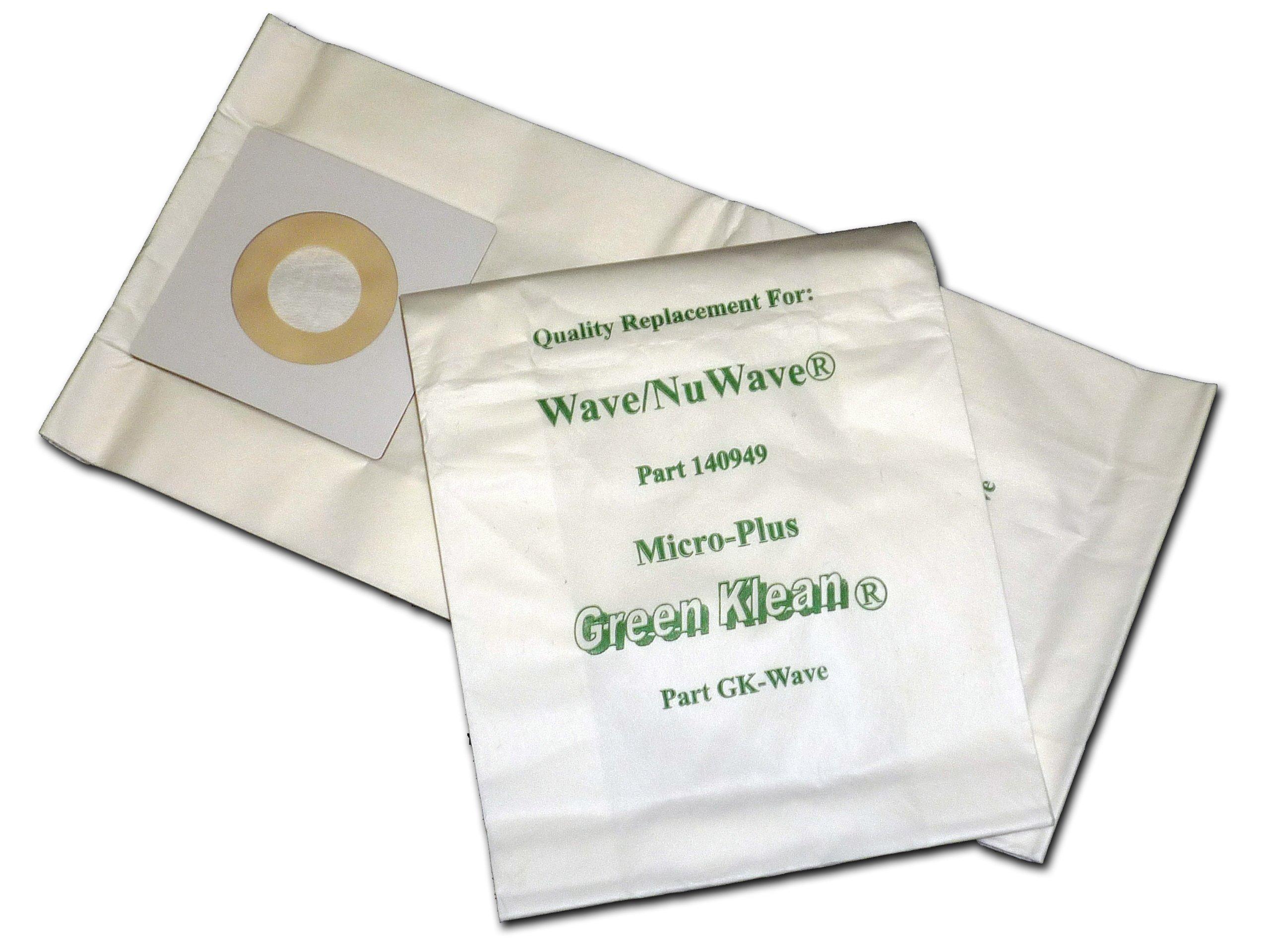 Green Klean GK-Wave Windsor NuWave, Wave and Ivacuum Replacement Vacuum Bags (Pack of 100)
