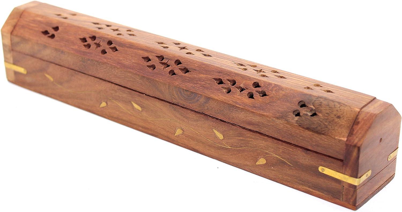 Govinda Wooden Coffin Incense Burner - 12