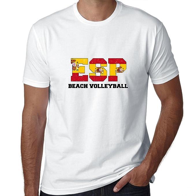 Bandera de España de voleibol de playa – Juegos Olímpicos – Río – Camiseta para hombre
