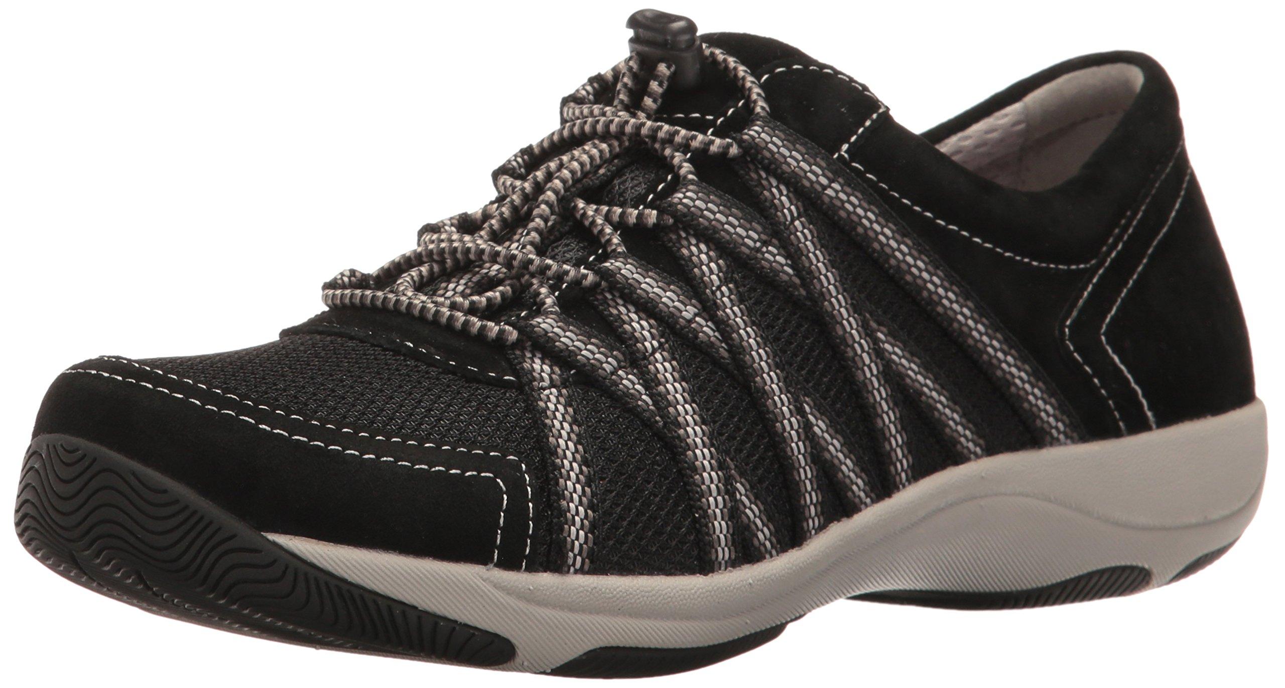 Dansko Women's Honor Fashion Sneaker, Black Suede, 39 EU/8.5-9 M US