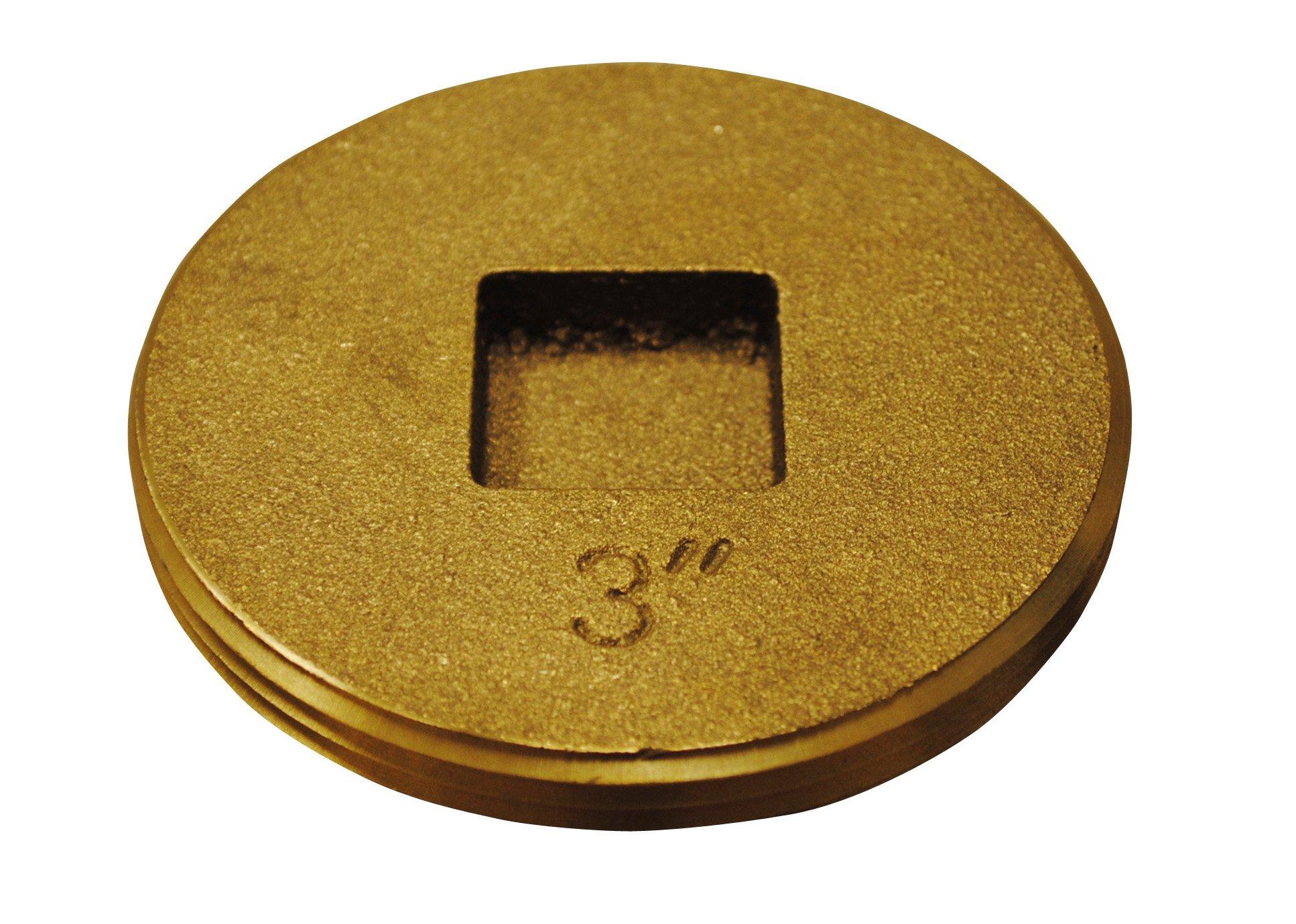 Oatey 42743 Brass Cleanout Plug, 3-Inch