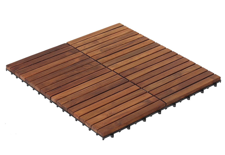 Bare decor ez floor interlocking flooring tiles in solid teak wood bare decor ez floor interlocking flooring tiles in solid teak wood oiled finish set of 10 long 9 slat amazon doublecrazyfo Gallery