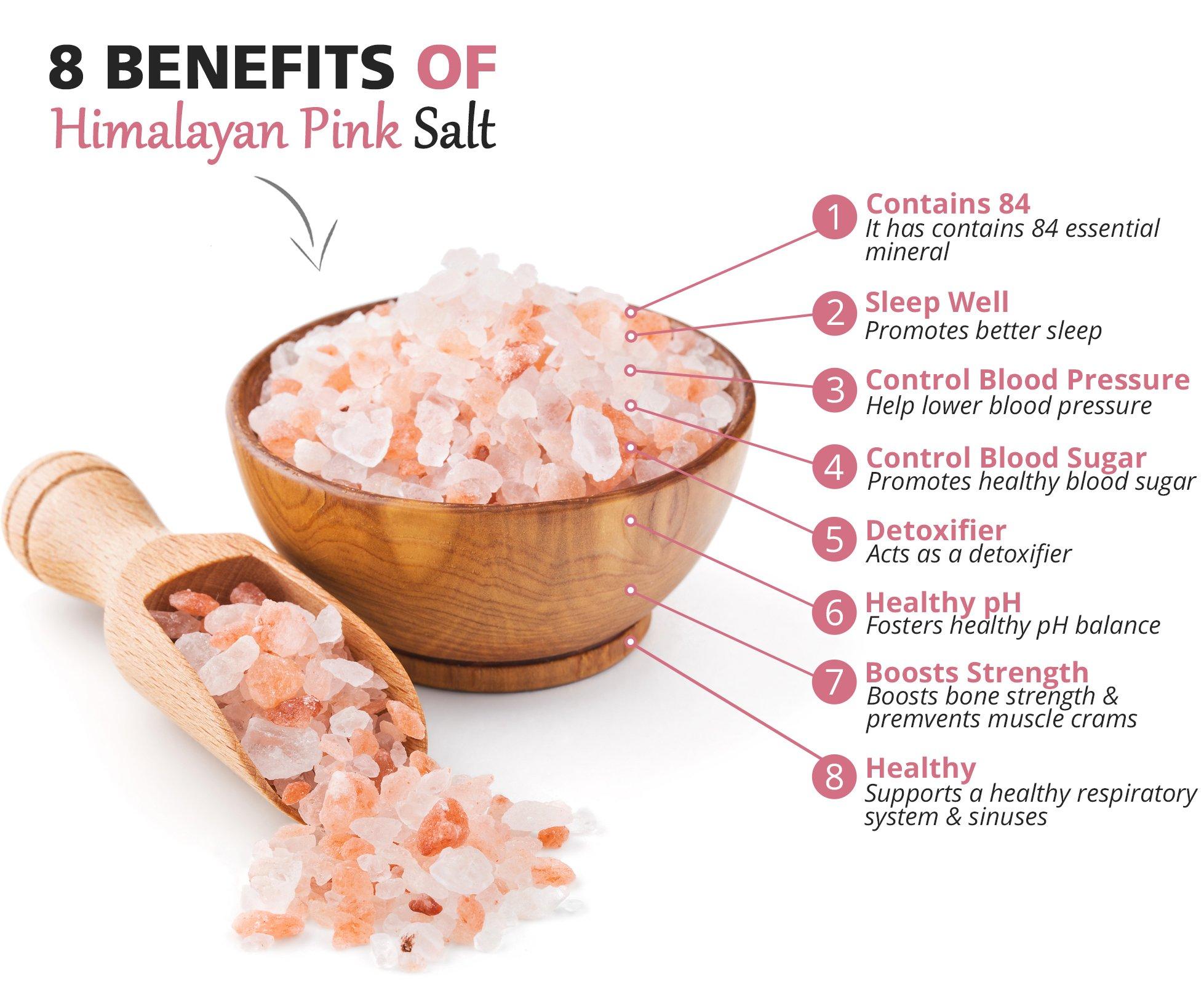 Himalayan Pink Salt 5 lbs Coarse Grain Bulk Bag - Hymalain