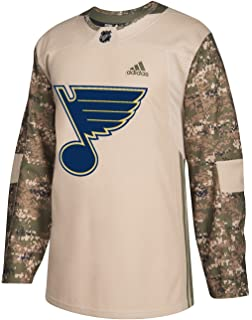 adidas St. Louis Blues NHL Edge Camouflage Pre-Game Authentic Warm Up Jersey bfdeac4ae