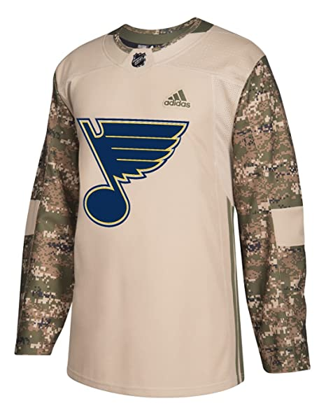 separation shoes 0712a ea2d6 Amazon.com : adidas St. Louis Blues NHL Veterans Day Jersey ...