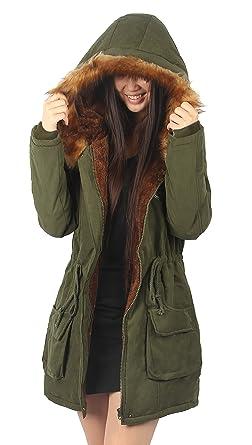 Amazon.com: iLoveSIA Womens Hooded Warm Winter Coats Faux Fur