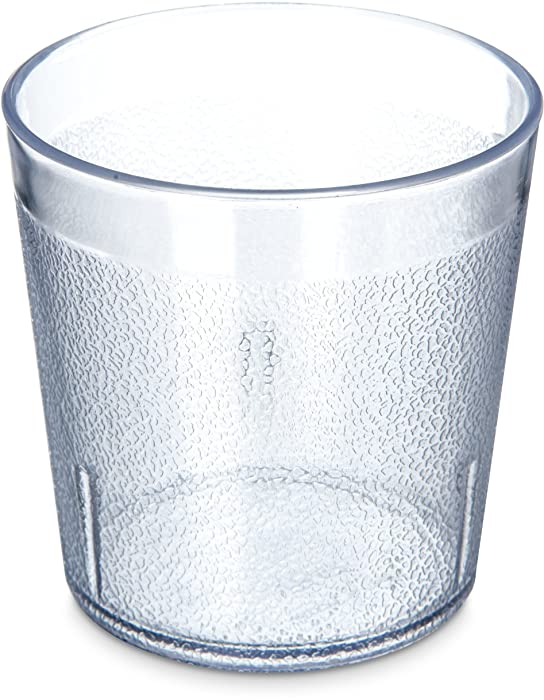 Carlisle 5529-207 Stackable Old Fashion Tumbler, 9 oz, Clear, Plastic (Case of 24)