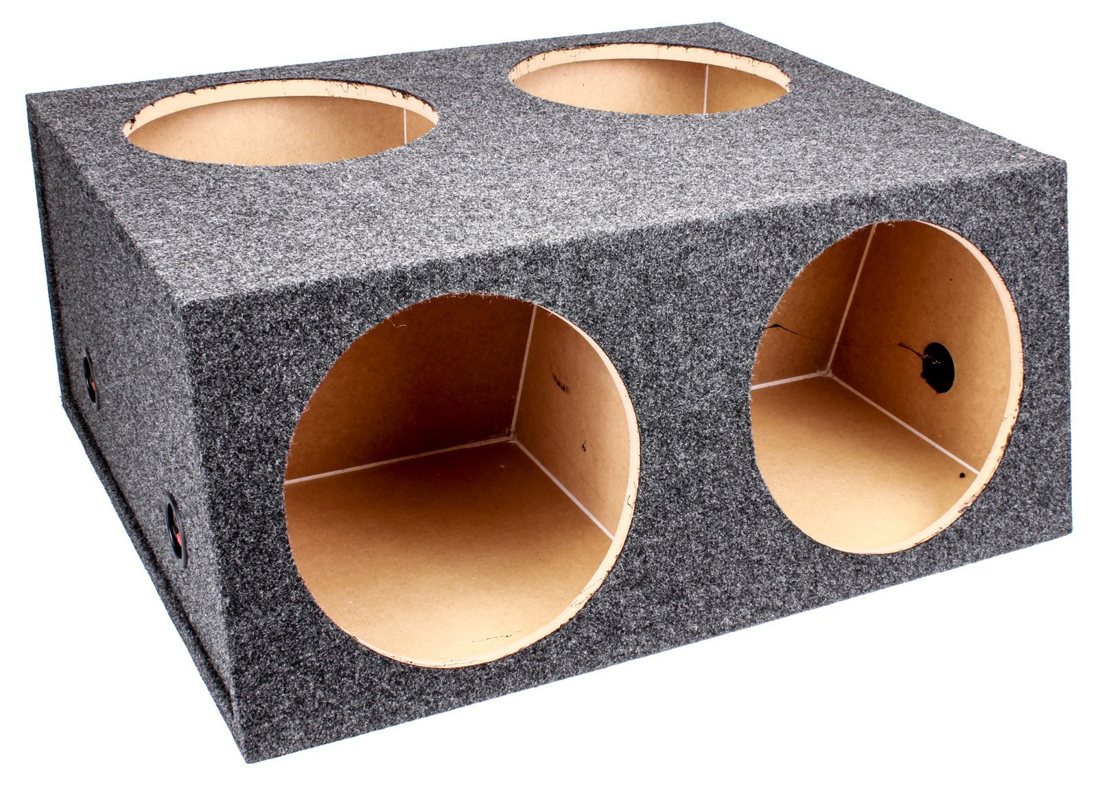 Q Power BASS12 4HOLE T 12-Inch Sealed Divided Speaker Box by Q Power