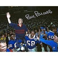 "$119 » Bill Parcells New York Giants Autographed 8"" x 10"" Super Bowl Carry Off Photograph - Autographed NFL Photos"