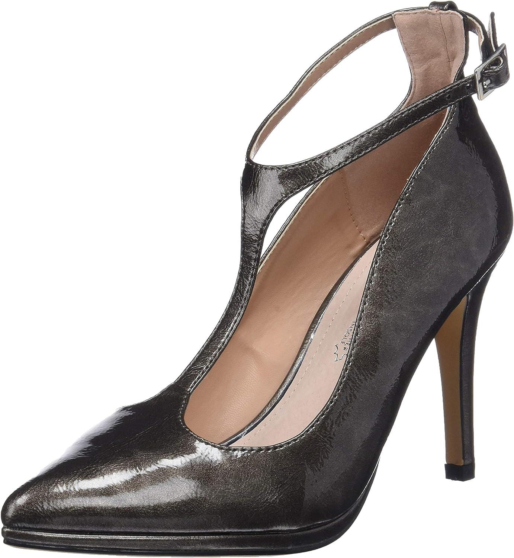 TALLA 39 EU. MARIA MARE 62109, Zapatos con Tacon y Correa de Tobillo para Mujer