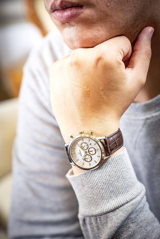 ORPHELIA Herr kronograf klocka tempo Brun/Silver