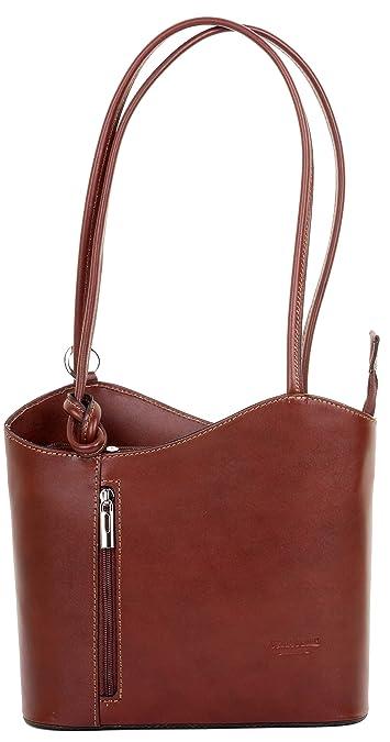 533519e2dca6 Italian Leather Hand Made Mid Brown Handbag