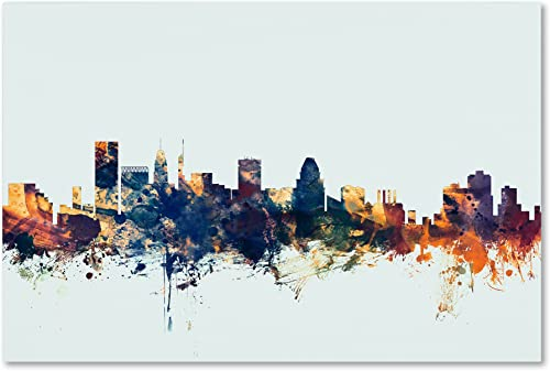 Baltimore MD Skyline Blue