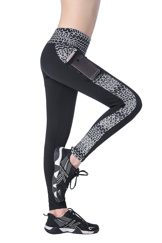 EAST HONG PANTS レディース B07C71DJ9W Medium|Black-print Black-print Medium