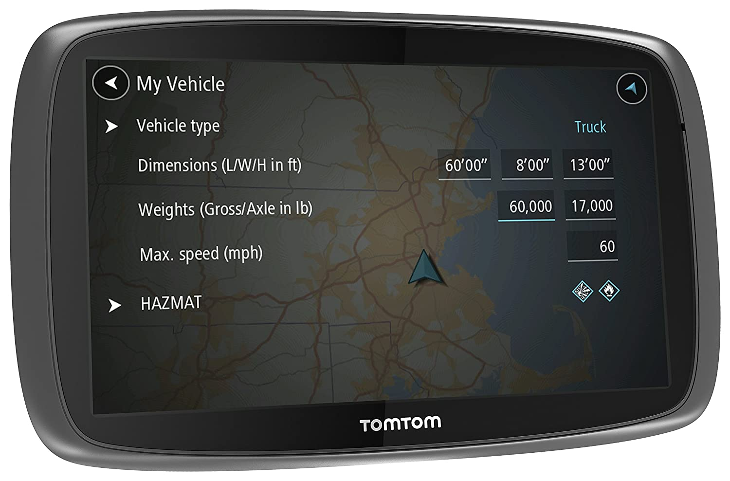 GPS Navigation for Trucks 1FA6.019.10 TomTom Trucker 600 GPS Device