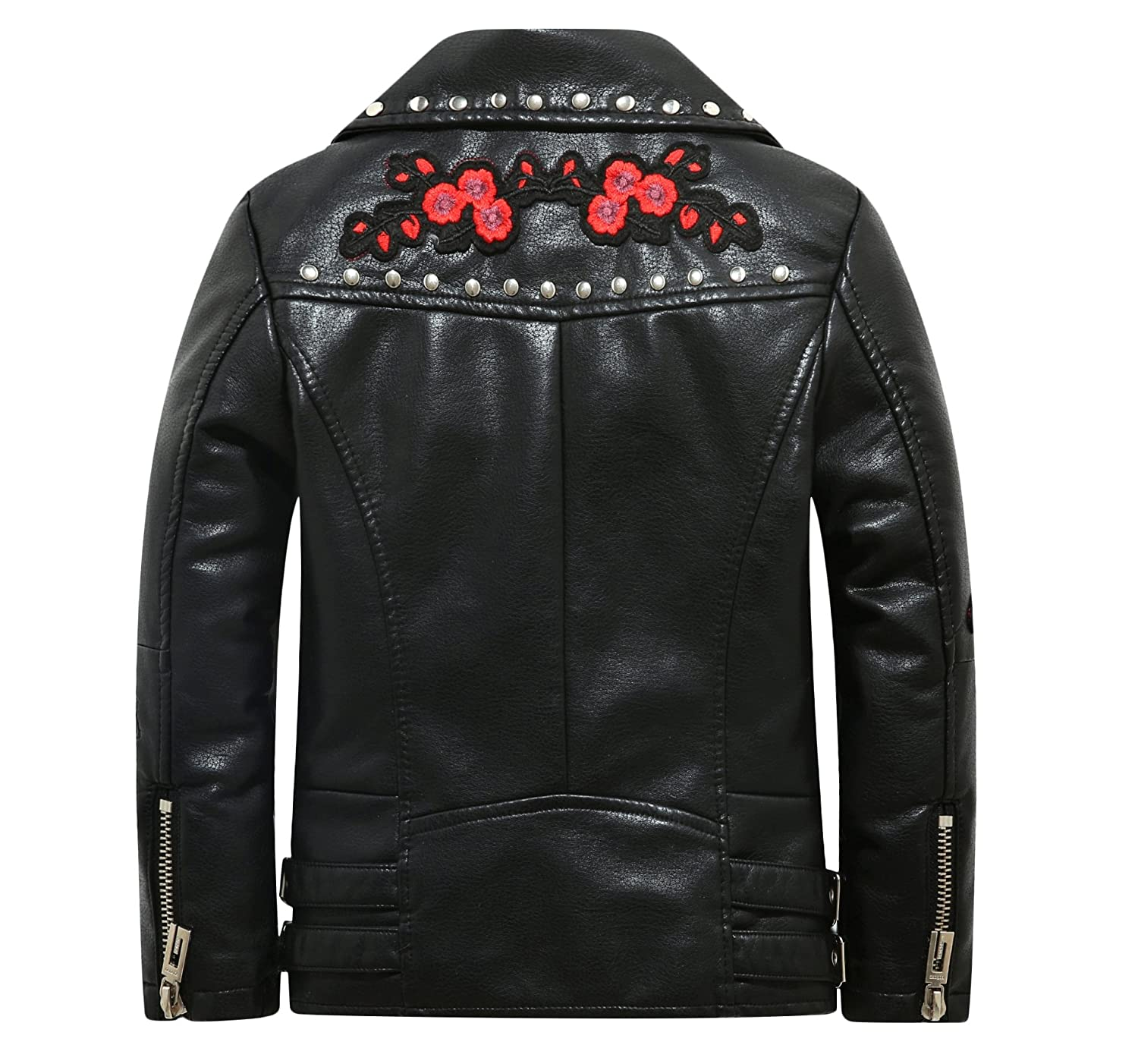 3c552bece The Twins Dream Girls Leather Jacket Kids Leather Jackets Boys Motorcycle  Jacket Girls Coat