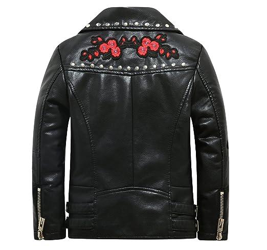 6da3028f0 Amazon.com  The Twins Dream Girls Leather Jacket Kids Leather ...