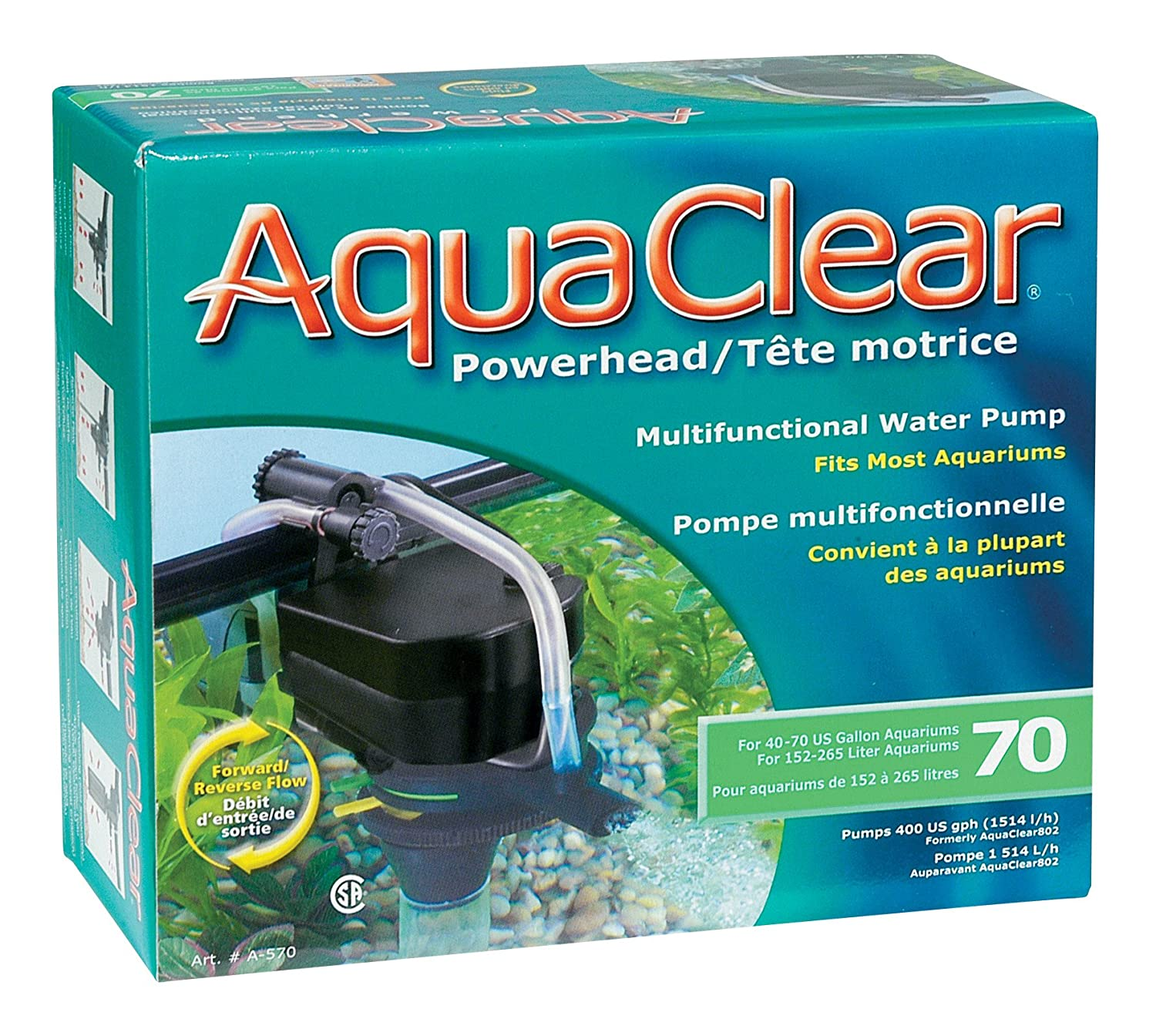 Amazon.com : AquaClear 70 Powerhead, 400 Gallons per Hour, UL ...