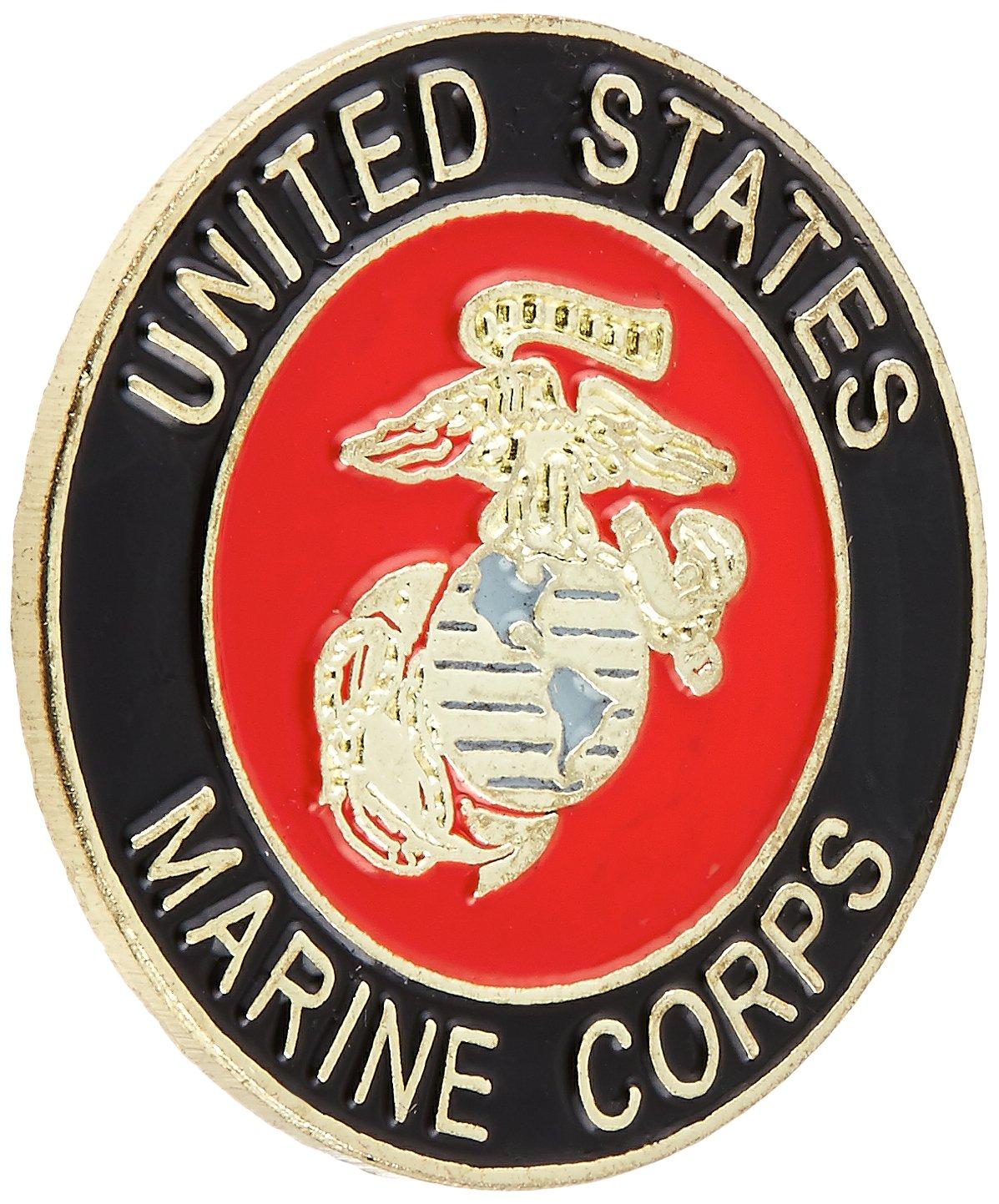 US Flag Store Marine Round Lapel Pin Online Stores Inc. Marine-Pin