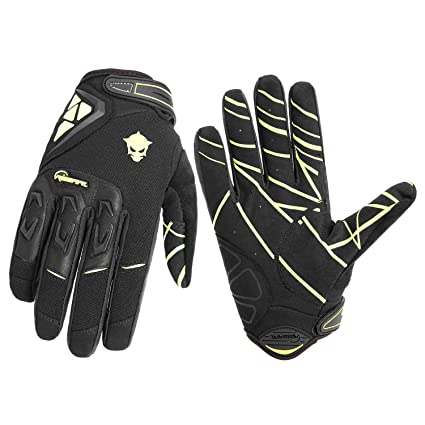 RIGWARL Full Finger Motocross Cycling Gloves With Protect Shell For Bike  Racing Motorcycle (Black,
