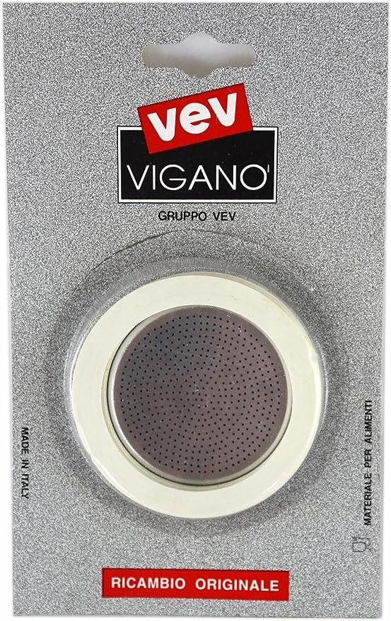 Vev Vigano el hornillo sellos de goma para Cafetera de Espresso filtro y fabricado en Italia 12 CUP: Amazon.es: Hogar
