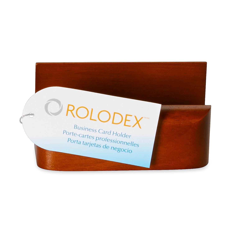 Amazon.com : Rolodex Wood Tones Business Card Holder, Capacity 50 ...