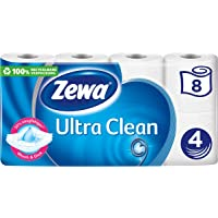 Zewa Ultra Clean Toalettpapper 4-Lager 8 Rullar med 150 Blad