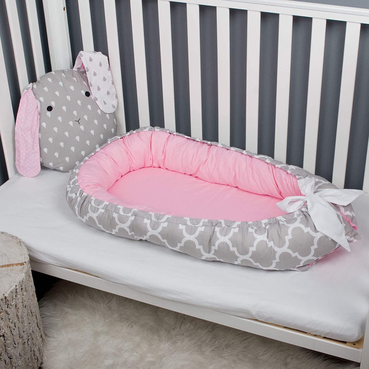 Baby nest bed or Toddler size nest, cocoon portable crib lounger baby bassinet co sleeper babynest babynest bed travel pad pod for newborn