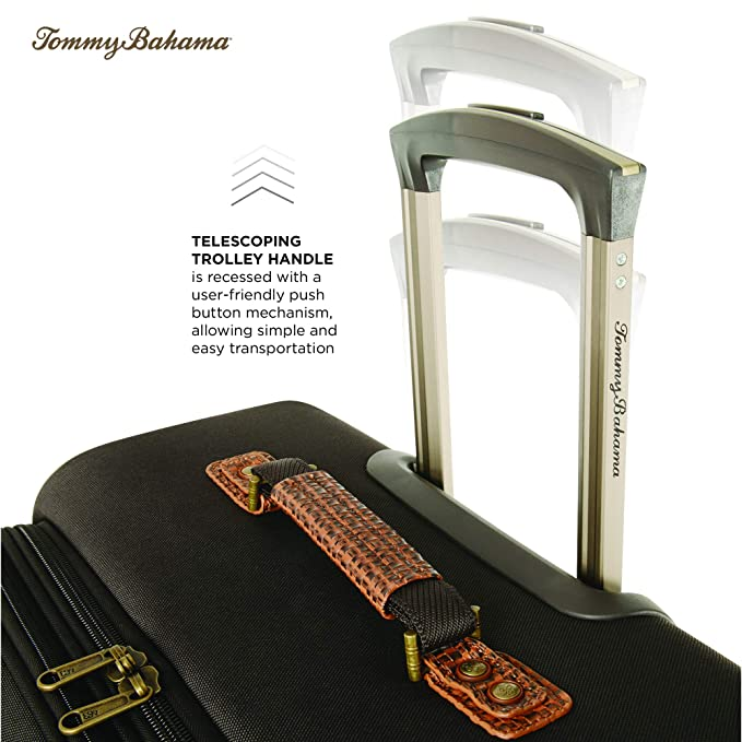 3490b9ee0 Amazon.com | Tommy Bahama Carry On Luggage - 20 Inch Lightweight Expandable  Rolling Spinner Luggage with Wheels Travel Suitcase, Dark Brown | Carry-Ons