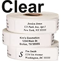 Return Address Labels - Roll of 250 Personalized Labels (Clear)