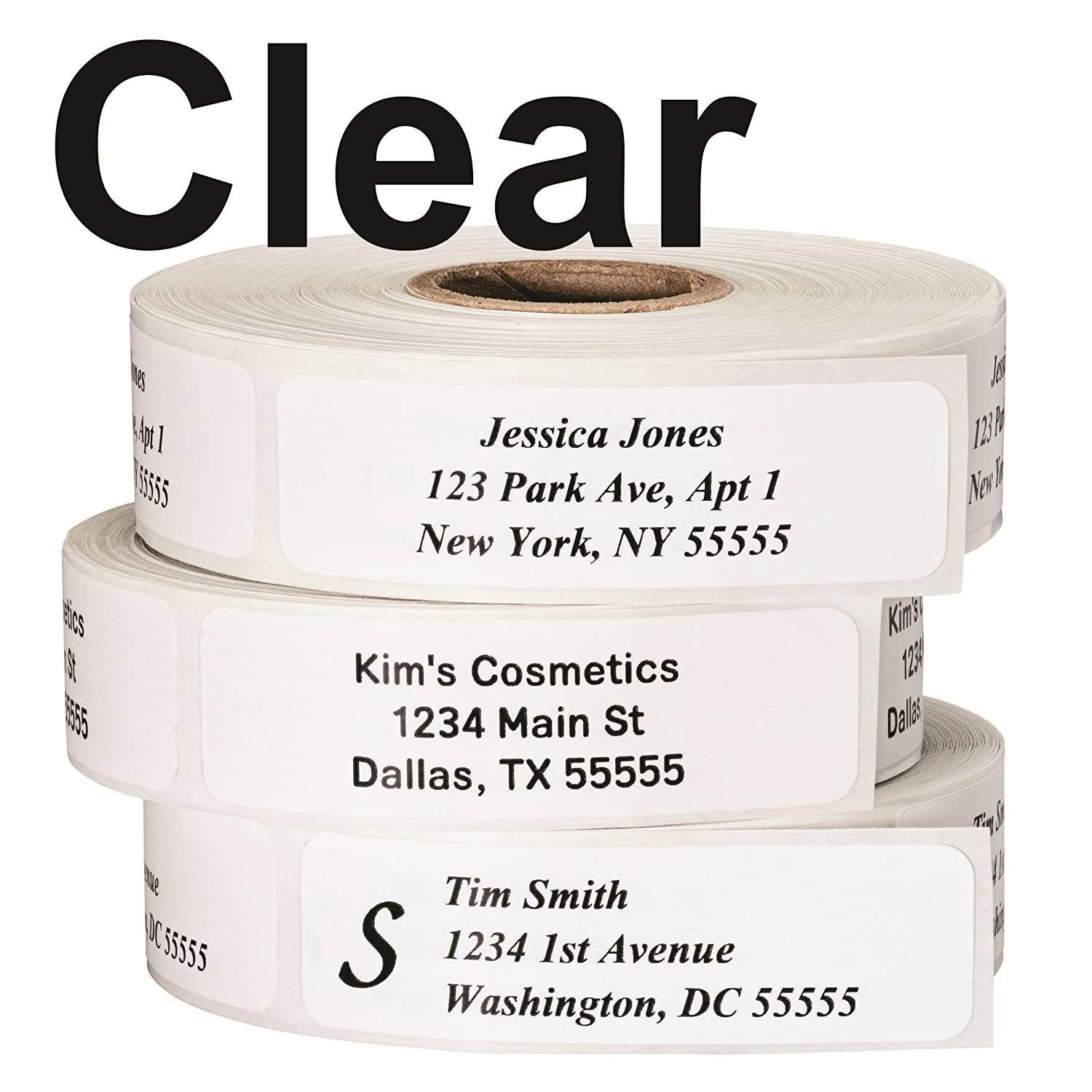 Return address labels roll of 500 personalized labels clear