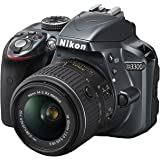 "Nikon D3300 + 18-55 AFP DX VR - Cámara réflex digital de 24,2 Mp (pantalla LCD 3"", estabilizador, vídeo Full HD), color gris oscuro - kit con objetivo 18-55MM AFP DX VR"