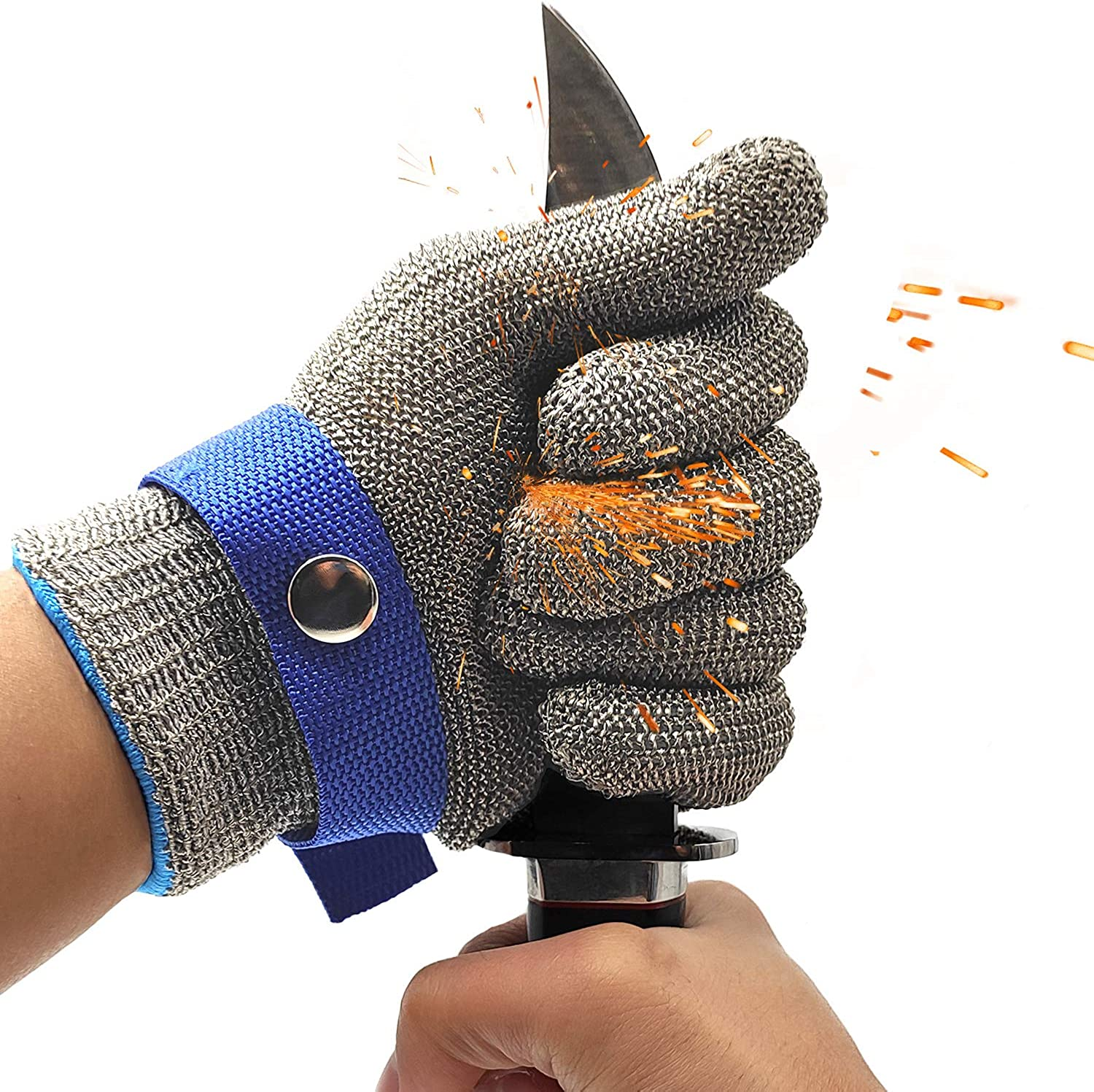 Stainless Steel Mesh Metal Wire Gloves Cut Resistant Level 9 Durable Rustproof Butcher Glove Kitchen Cutting Heavy Protection