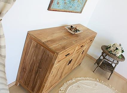 Credenza Moderna Mimosa : Mobile buffet credenza madia in legno di teak naturale ante