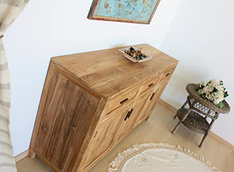 Credenza Moderna Stretta : Mobile buffet credenza madia in legno di teak naturale ante
