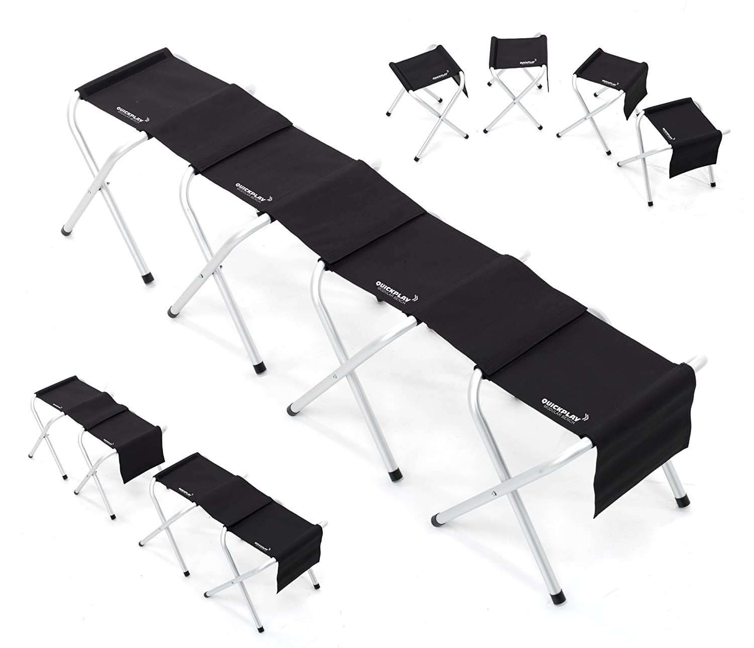 Folding Team Bench Part - 48: QUICKPLAY Portable Lightweight Sports Team Bench - With Modular Design