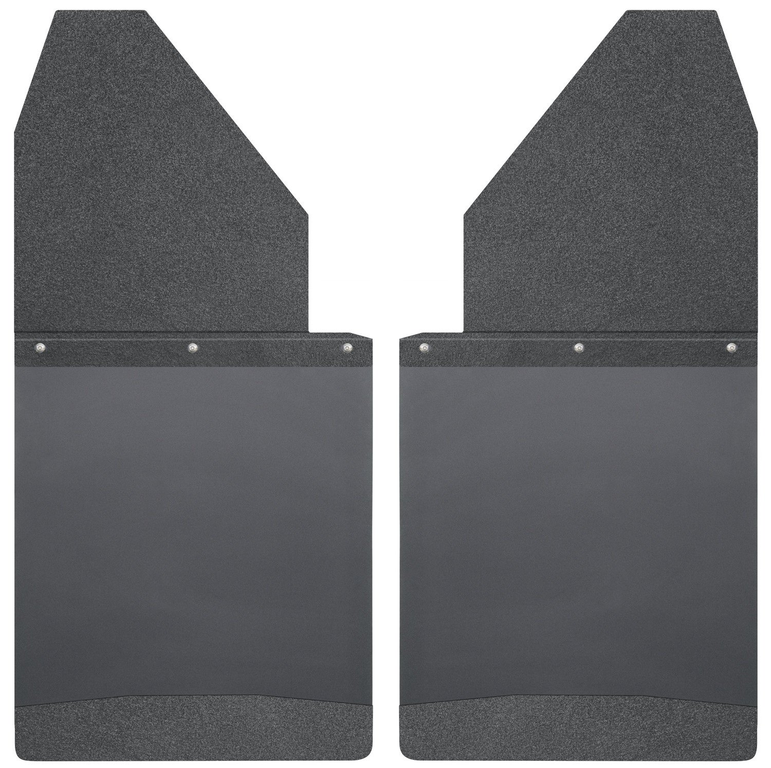 Black Top//Wt Fits Silverado//F150//Ram 17112 Husky Liners Kick Back Mud Flaps 14IN Wide