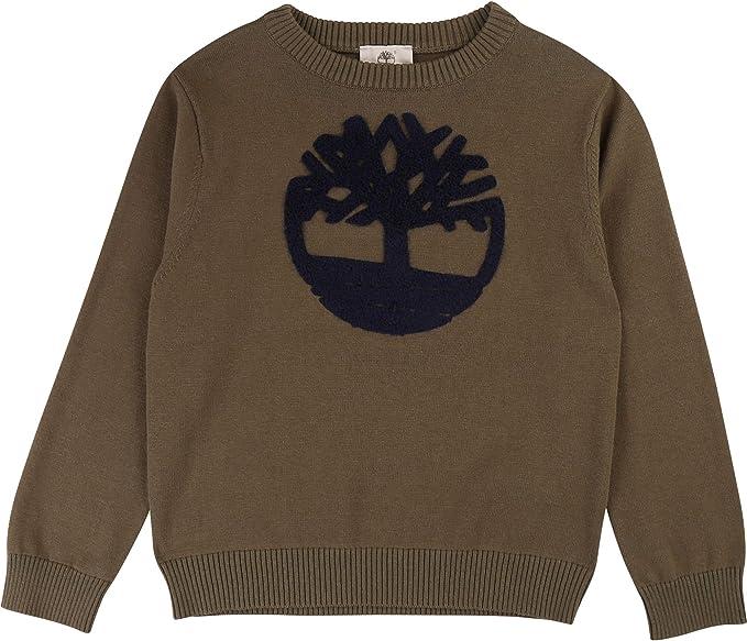 Timberland Pull Tricot en Coton avec Logo