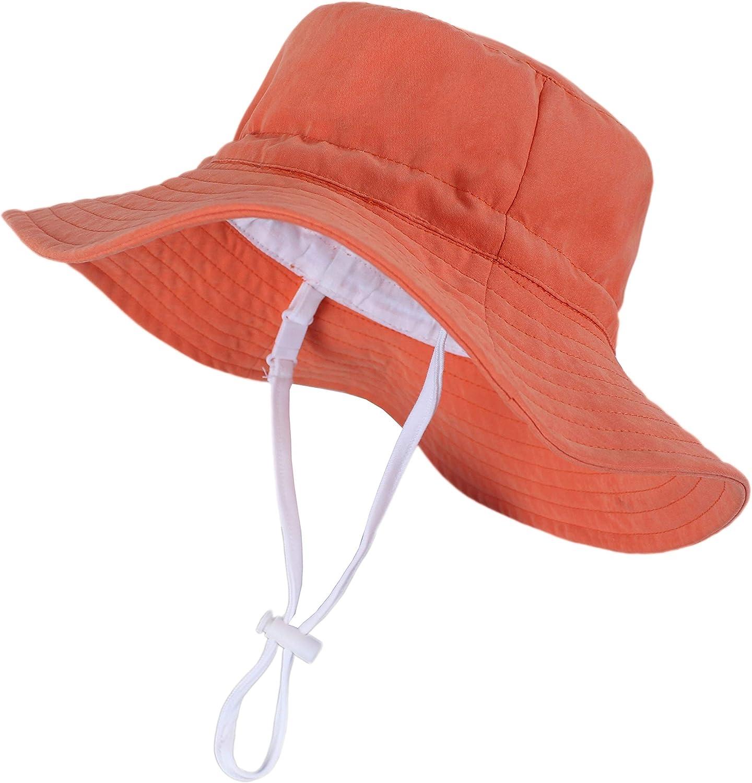 beige Gorra de verano playa sombrero para mujeres y ni/ñas Dylandy Sombrero de sol plegable de algod/ón con protecci/ón UV UPF50 57 cm
