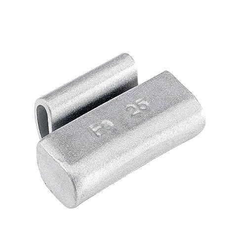 100x Pesos de equilibrado ruedas Tipo187 25g plata Hofmann Power Weight | Contrapesos de equilibrio para