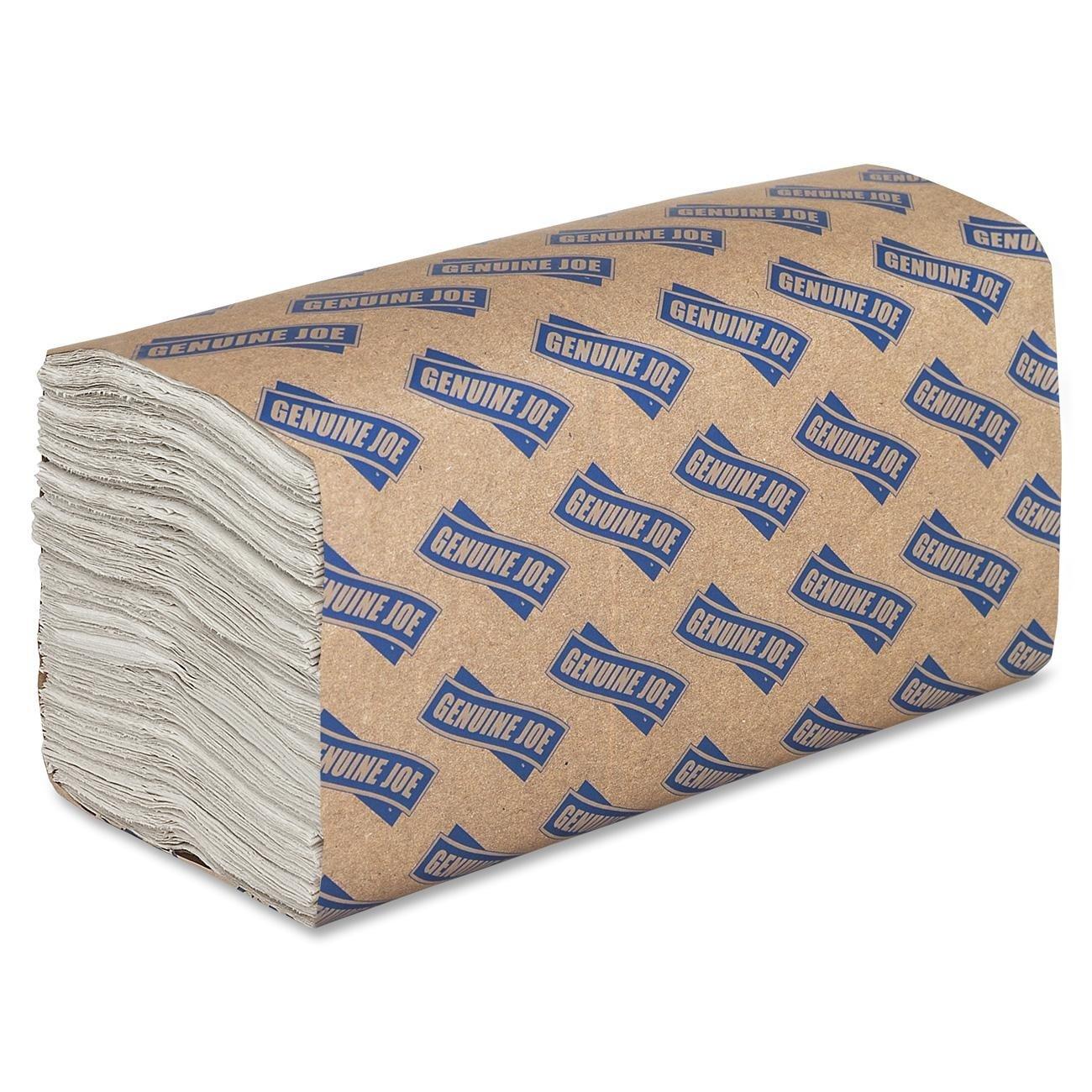 Genuine Joe GJO21120 C-Fold Towels- 1-Ply- 13in.x10-.13in.- 2400 Towels-CT- White B002Q3TYA6  1