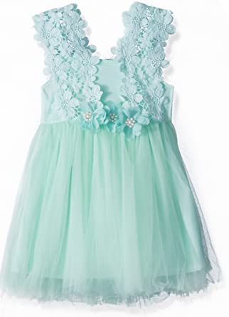 e6a2bd01e Elegant Feast Baby Girls Princess Lace Flower Tulle Tutu Gown Formal Party  Dress (2-