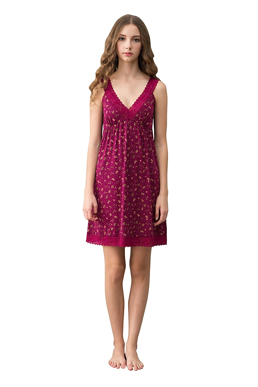 Marster Fashions Short Sleeve Nightgown Ladies Cotton Nightdress for Womens  Soft Summer Nightie  Amazon.co.uk  Clothing 1c59e99b9