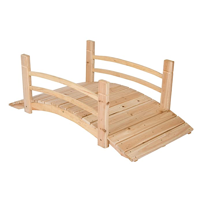 Shine Company 4 Ft. Cedar Garden Bridge, Natural