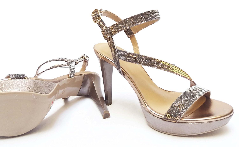 Nero Giardini Ufficio Stampa : Nero giardini sandali da donna in glitter col rame tacco cm